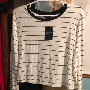 Loose oversized striped long sleeve